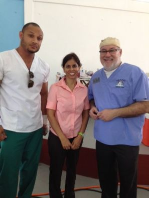 Dr. Scott with Guyanese dentists